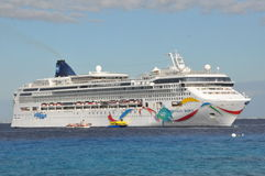 Norwegian Dawn. Cruise Ship. It entered service in 2002 and is in operation with Norwegian Cruise Line Royalty Free Stock Photos
