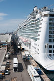 Norwegian Epic. Cruise ship docked in port of Barcelona, Spain Royalty Free Stock Photos