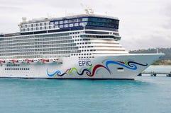 Norwegian EPIC cruise ship. Norwegian EPIC in Ocho Rios, Jamaica Stock Photos