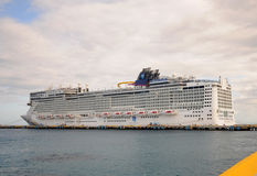 Norwegian Epic docked Stock Photos