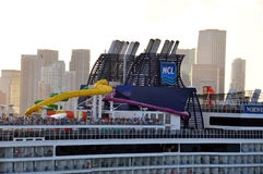 Norwegian Epic funnel Royalty Free Stock Images