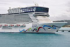 Norwegian EPIC in Jamaica Royalty Free Stock Photo