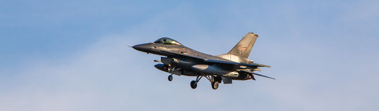 Norwegian F-16 fighter jet Royalty Free Stock Photo