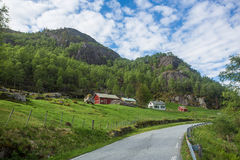 Norwegian farm Royalty Free Stock Image