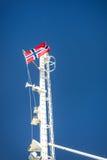 Norwegian ferry flag mast Stock Images