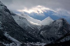 Norwegian fiords. Norway, cold winter Royalty Free Stock Image