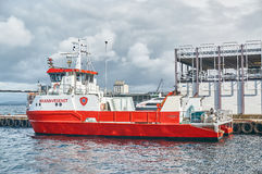 Norwegian fireboat Royalty Free Stock Photography