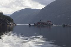 Norwegian fish farm Royalty Free Stock Photo