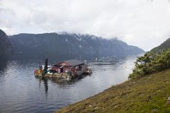 Norwegian fish farm Royalty Free Stock Image