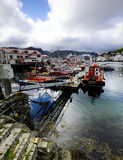 Norwegian Fishing Harbour Royalty Free Stock Photos