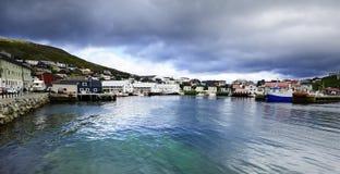 Norwegian Fishing Harbour Royalty Free Stock Images