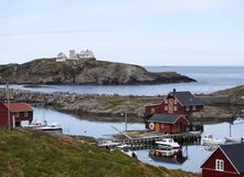 Norwegian fishing houses Royalty Free Stock Images
