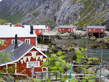 Norwegian fishing village Stock Photo