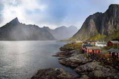Norwegian Fishing village, Hamnoy island, Reine, Lofoten, Norway Royalty Free Stock Photo