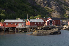 Norwegian fishing wharfs Royalty Free Stock Images