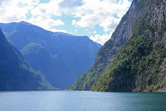 Norwegian fjord. View of one of the Norwegian fjords Royalty Free Stock Photos