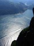 Norwegian fjord. Beautiful view of the Norwegian fjord - nord europe Royalty Free Stock Image