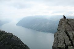 Norwegian fjord. Beautiful view of the Norwegian fjord - nord europe Royalty Free Stock Photography
