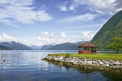 Norwegian fjord Stock Image