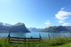 Norwegian fjord. Beautiful norwegian fjord on a clear day Stock Photo
