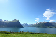 Norwegian fjord. Beautiful norwegian fjord on a clear day Royalty Free Stock Photo
