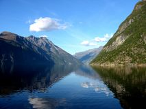 Norwegian fjord. Taken in Geiranger, Norway stock photos
