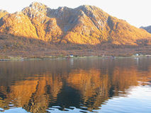 Norwegian fjord in autumn colours Stock Image