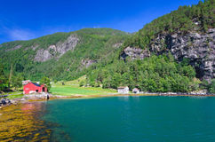 Norwegian fjord bay Stock Photography