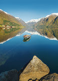 Norwegian fjord landscape Royalty Free Stock Photography