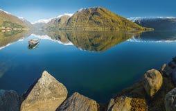 Norwegian fjord landscape Stock Photos