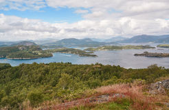 Norwegian fjord landscape and surrounding islands Stock Image
