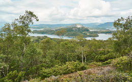 Norwegian fjord landscape and surrounding islands Royalty Free Stock Image