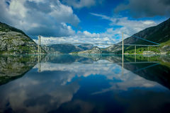 Norwegian fjord and mountains Stock Photography