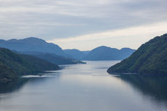 Norwegian fjord and mountains Royalty Free Stock Photography