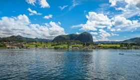 Norwegian fjord and mountains in summer Lysefjord, Norway Stock Image