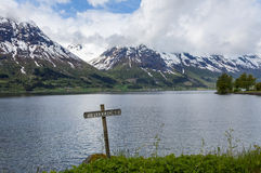 Norwegian fjord Royalty Free Stock Images