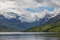 Norwegian fjord Stock Photography
