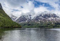 Norwegian fjord Royalty Free Stock Photos