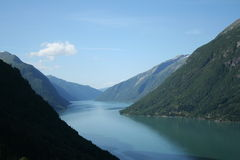 Norwegian fjords. Beautiful lanscapes from norwegian fjords  in the summer - europe travel Stock Image