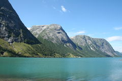 Norwegian fjords. Beautiful lanscapes from norwegian fjords  in the summer - europe travel Stock Photography