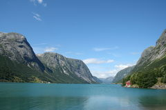 Norwegian fjords Royalty Free Stock Image