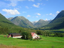 Norwegian fjords. Beautiful lanscapes from norwegian fjords  in the summer - europe travel Stock Photos