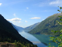 Norwegian fjords Royalty Free Stock Photos