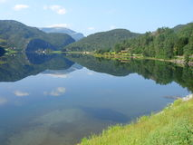 Norwegian fjords. Beautiful lanscapes from norwegian fjords  in the summer - europe travel Royalty Free Stock Image