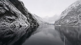 Norwegian Fjords stock video footage