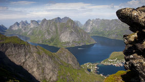 Norwegian fjords - Lofoten Royalty Free Stock Photography