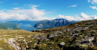 Norwegian fjords and mountains Royalty Free Stock Image