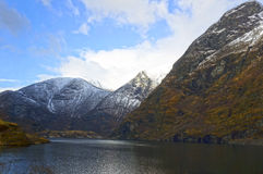 Norwegian fjords and mountains. May 05, 2013 Stock Photo