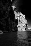 Norwegian fjords. Sky, water, BW Stock Photography