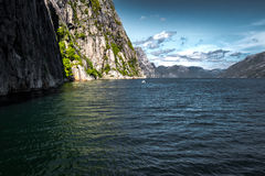 Norwegian fjords. Sky, water, color Stock Images